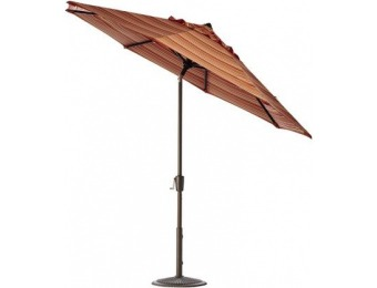 75% off 11' Auto-Tilt Outdoor Sun Market Umbrella