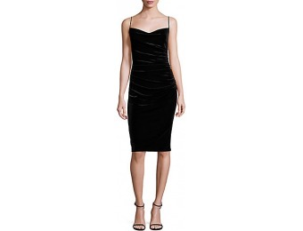 55% off Laundry by Shelli Segal Ruched Velvet Sheath Dress