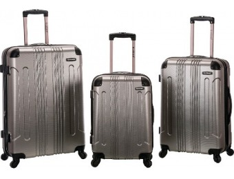 81% off Rockland 3pc Abs Luggage Set