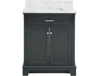 $550 off Allen + Roth Roveland 30-in Single Sink Bathroom Vanity