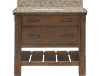 $300 off Patmore Mocha Glaze 37-in Bathroom Vanity