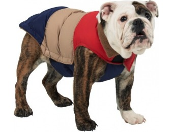 48% off Fab Dog Color-Block Puffer Dog Jacket