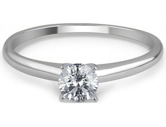 80% off 1/4 Cttw. Certified Round 14K White Gold Diamond Ring
