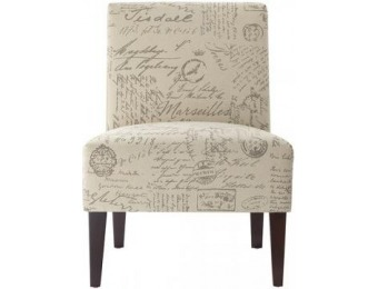 44% off Script Slipper Chair - 34Hx25.5Wx29d""