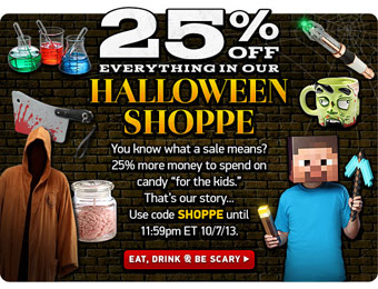 Save an Extra 25% off Halloween Items at ThinkGeek
