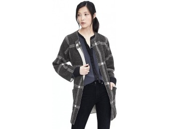 50% off Banana Republic Womens Belted Plaid Coat