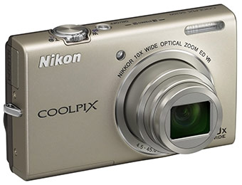 57% off Nikon Coolpix S6200 16.0-Megapixel Digital Camera
