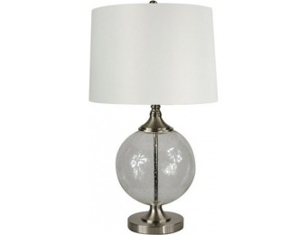 "80% off Allen + Roth Lenihan 27.5"" Brushed Nickel Indoor Table Lamp"