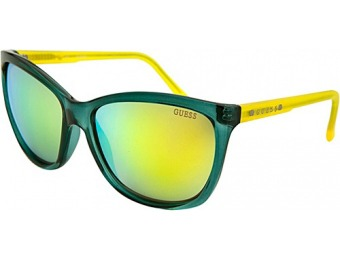 71% off GUESS Eyewear Square Sunglasses, Teal