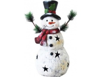 $43 off Alpine Christmas Snowman Statue