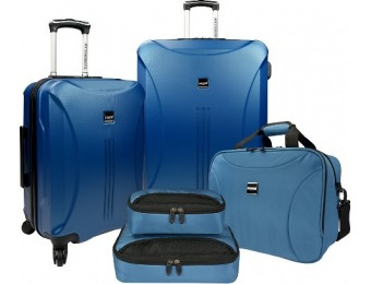 80% off U.S. Traveler Luggage Set - Steel Blue