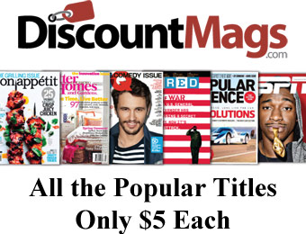 Discount Magazine Best Sellers Sale - All the popular titles only $5