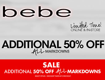 Additional 50% off All Markdowns