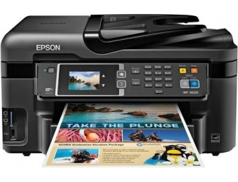 76% off Epson C11CD19201 WorkForce WF-3620 All-in-One Printer