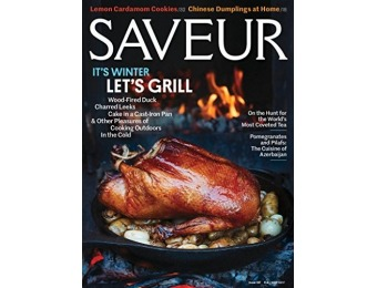 91% off Saveur Magazine - 1 Year Subscription