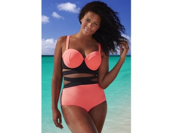 80% off GabiFresh The Electress UltraPink D/DD Underwire Bikini