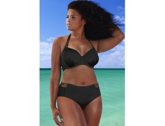 74% off The Mogul Black Underwire Bikini