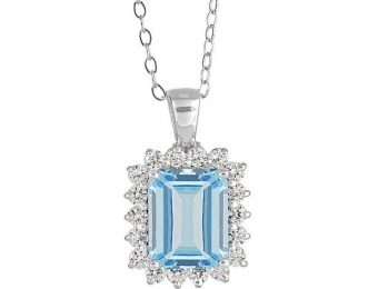 82% off New York City District Aquamarine Diamond Pendant
