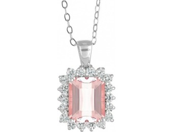 82% off New York City Diamond District Morganite Diamond Pendant