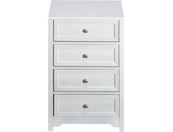 "75% off Oxford 4-Drawer Chest 29.5""Hx19.75""W, White"