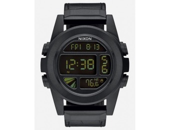 75% off NIXON Unit SS Leather Watch