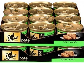 51% off SHEBA Pate Turkey Entrée Canned Cat Food (Pack of 24)