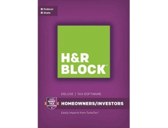 44% off H&R Block Tax Software Deluxe Federal and State, Mac|PC