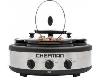 50% off Chefman 4.5-Quart Slow Cooker - Stainless