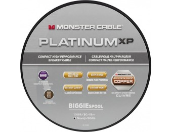 67% off Monster Platinum XP Clear Jacket MKIII 100' Speaker Cable