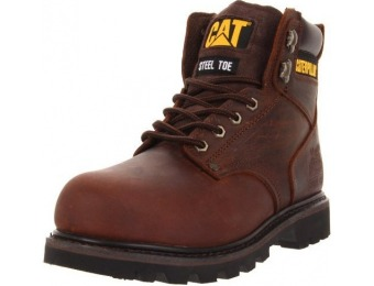 $63 off Caterpillar Men's Second Shift Steel Toe Work Boots