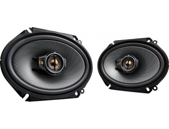 "$46 off Kenwood 6"" x 8"" 3-Way Car Speakers with Polypropylene Cones"