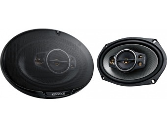 "62% off Kenwood 6"" x 9"" 5-Way Car Speaker with Polypropylene Cones"