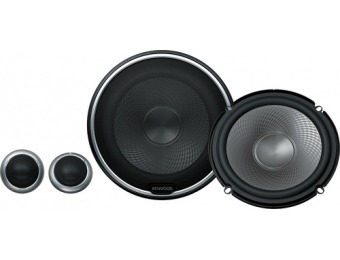 "55% off Kenwood 6-1/2"" 2-Way Car Speakers with Polypropylene Cones"