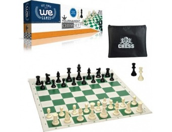 60% off WE Games Tournament Chess Set - Heavy Weighted Pieces