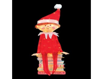 $62 off Elf on the Shelf 42 in. Pre-Lit LED Elf Sitting on Books
