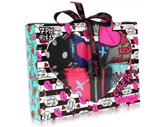 90% off Betsey Johnson Women's 9 Pack Socks Gift Box