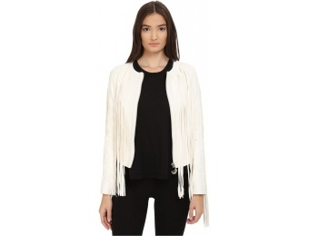 $3,527 off Philipp Plein Fringe Tribute Leather Women's Jacket
