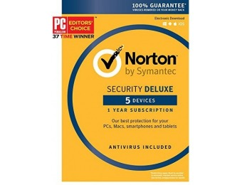 75% off Norton Security Deluxe - 5 Devices [Key Card]