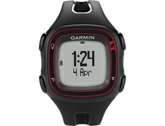 $90 off Garmin Forerunner 10 GPS Watch - Black/Red
