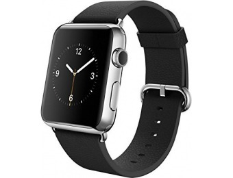 $100 off Apple Watch Stainless Steel Case with Black Buckle