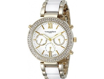 95% off Vernier Paris Women's Swiss Quartz Two-Tone Watch