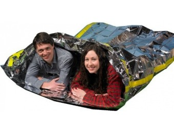 87% off Emergency Survival Mylar Thermal 2 Person Sleeping Bag