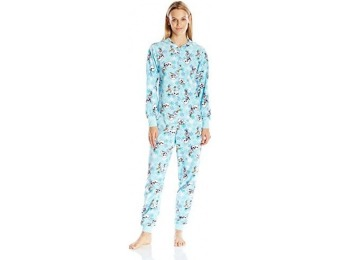 $39 off Disney Women's All-Over Print Olaf Onesie Pajama