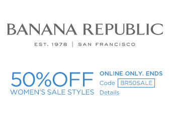 Extra 50% off Women's Sale Styles at Banana Republic
