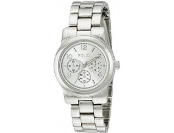 77% off Folio Women's FMDFOL016 Analog Display Quartz Silver Watch