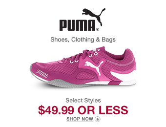 Puma Clothing, Shoes & Bags for $50 or Less