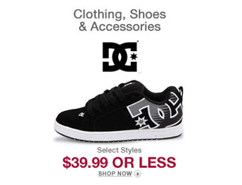 DC Shoes, Clothing & Accessories under $40 (Over 600 items)