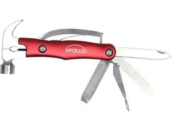 $12 off Apollo Tools 9-in-1 Multi Hammer - Red