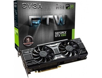 $45 off EVGA GeForce GTX 1060 3GB GDDR5 FTW GAMING ACX 3.0