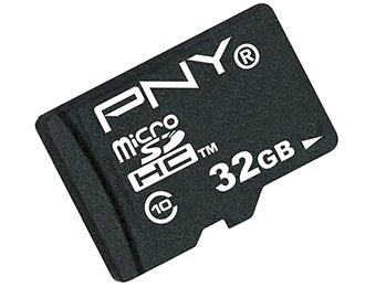 78% off PNY 32GB High Speed microSDHC Class 10 Memory Card